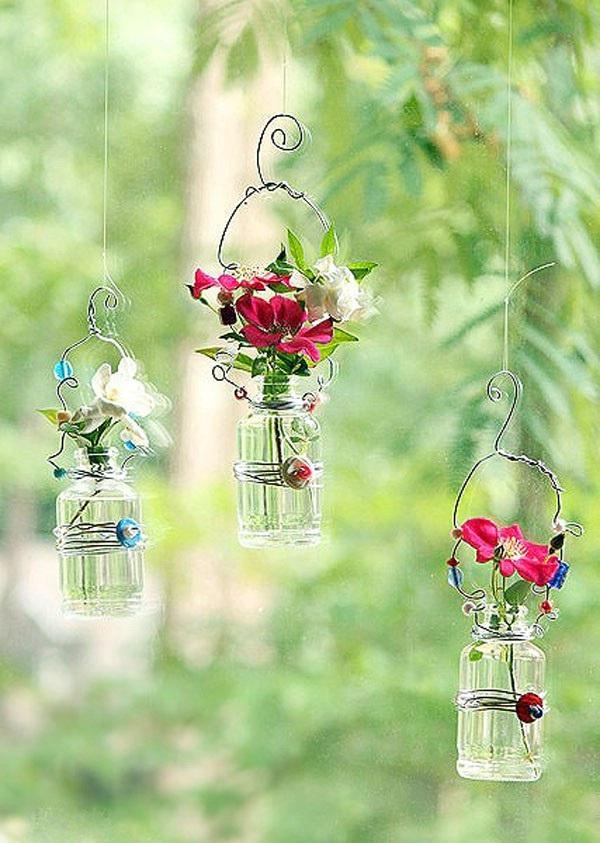 bí quyết tái chế lọ thủy tinh cũ thành chậu hoa đẹp xinh