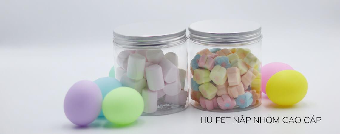 Hũ PET nắp nhôm cao cấp