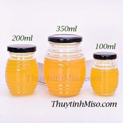 Hũ thủy tinh con ong 350ml 2