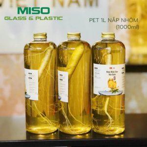 Chai nhựa PET 1 Lít nắp nhôm