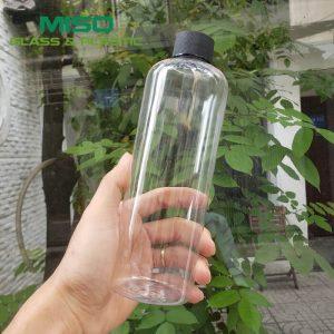 Chai nhựa PET cao 500ml nắp nhựa cao cấp