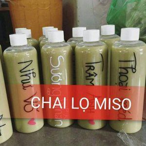 Chai nhua PET dung tra sua 1 lit