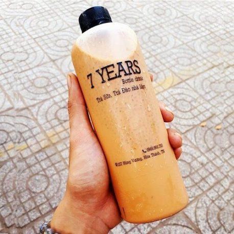 Chai PET đựng trà sữa cao 500ml nắp đen 2