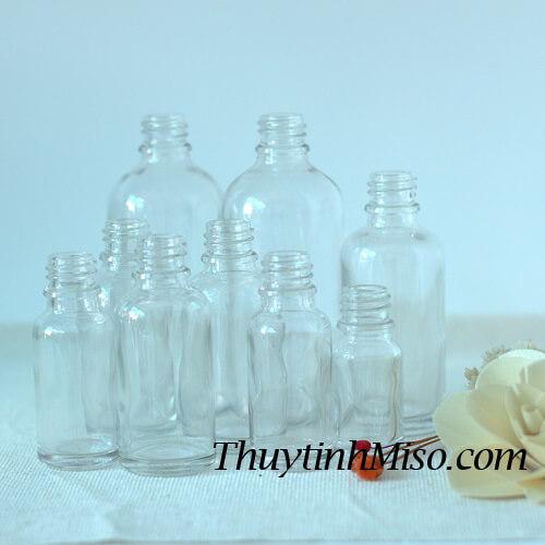 Chai tinh dầu trắng