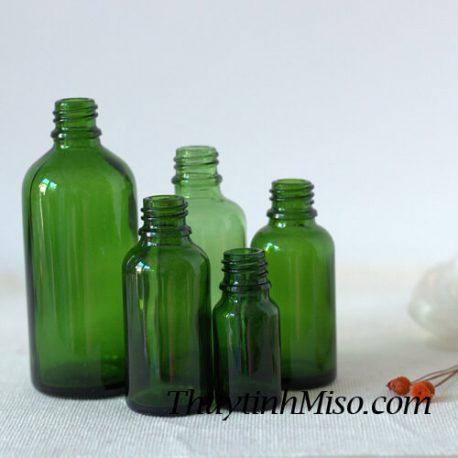 Chai tinh dầu xanh lá