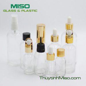 Chai tinh dầu trắng 5ml - 100ml