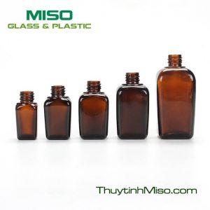 Chai tinh dầu vuông 10ml, 25ml, 30ml, 50ml, 100ml