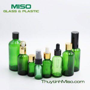Chai tinh dầu xanh lá 10ml - 100ml