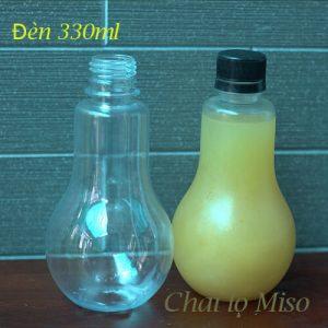 Chai nhựa PET bóng đèn 330ml 2