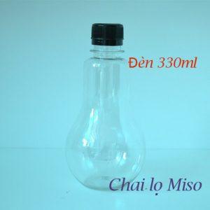 Chai nhựa PET bóng đèn 330ml 3