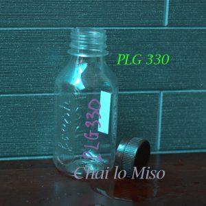 Chai nhua PET luc giac 330ml 2