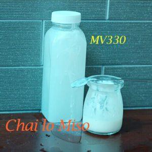 Chai nhựa PET vuông miệng to 330ml 1