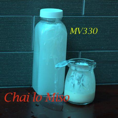 Chai nhựa PET vuông miệng to 330ml