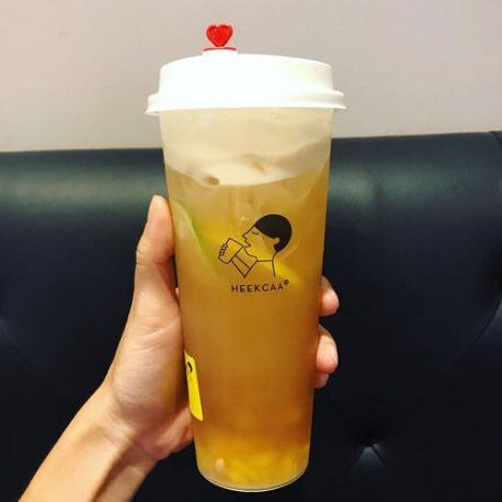 Ly nhựa trà sữa nút trái tim 700ml