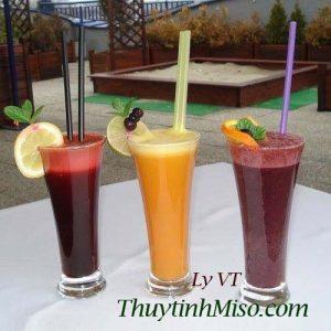 Ly thủy tinh uống sinh tố VT 2
