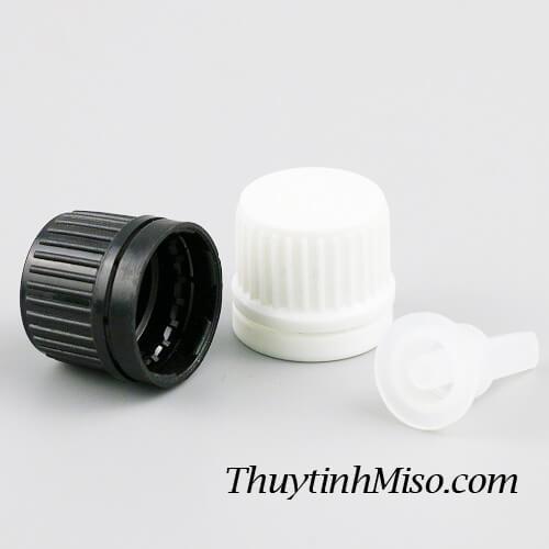 Nắp nhựa + nhỏ giọt chai tinh dầu