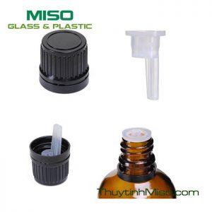 Nắp nhựa kèm chặn nhỏ giọt chai tinh dầu