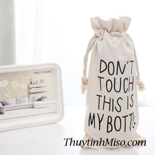 Chai thủy tinh My Bottle + túi vải 2