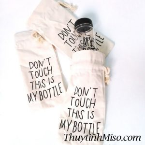 Chai thủy tinh My Bottle + túi vải 4