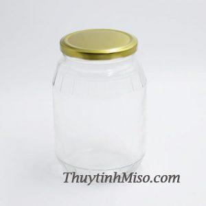 Hũ thủy tinh sọc 1 Lít - 2