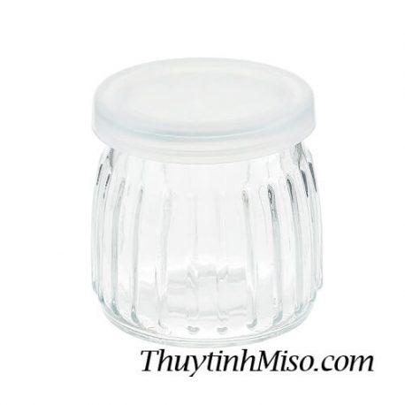 Hũ thủy tinh yaourt sọc 120ml 2