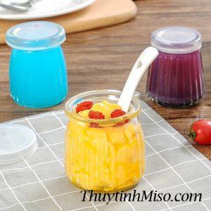Hũ thủy tinh yaourt sọc 120ml