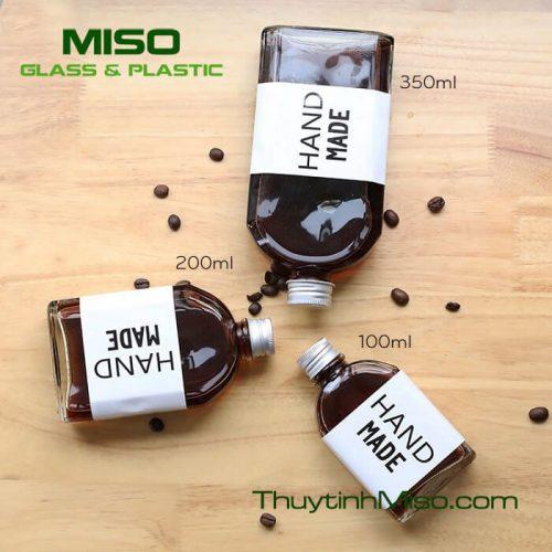 Chai thủy tinh dẹp 100ml - 2