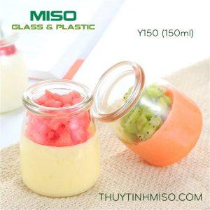 Hũ thủy tinh làm sữa chua 150ml 3