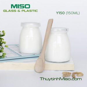 Hũ thủy tinh làm sữa chua 150ml