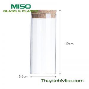 Hũ thủy tinh nắp gỗ HBG500 500ml