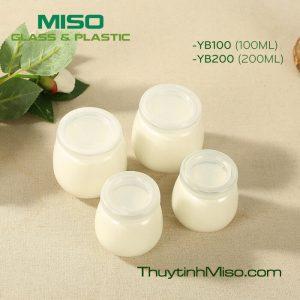 Hũ thủy tinh sữa chua YB 100ml, 200ml 2