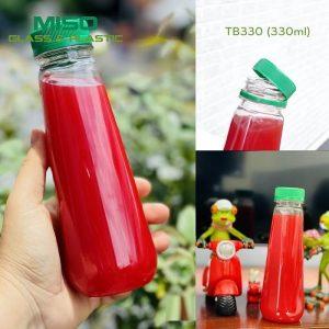 Chai nhựa PET tháp bầu 330ml 2